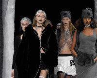 NEW YORK, NY - FEBRUARY 12:  Models walk the runway at the FENTY PUMA by Rihanna AW16 Collection during Fall 2016 New York Fashion Week at 23 Wall Street on February 12, 2016 in New York City.  (Photo by Kevin Mazur/Getty Images for FENTY PUMA)