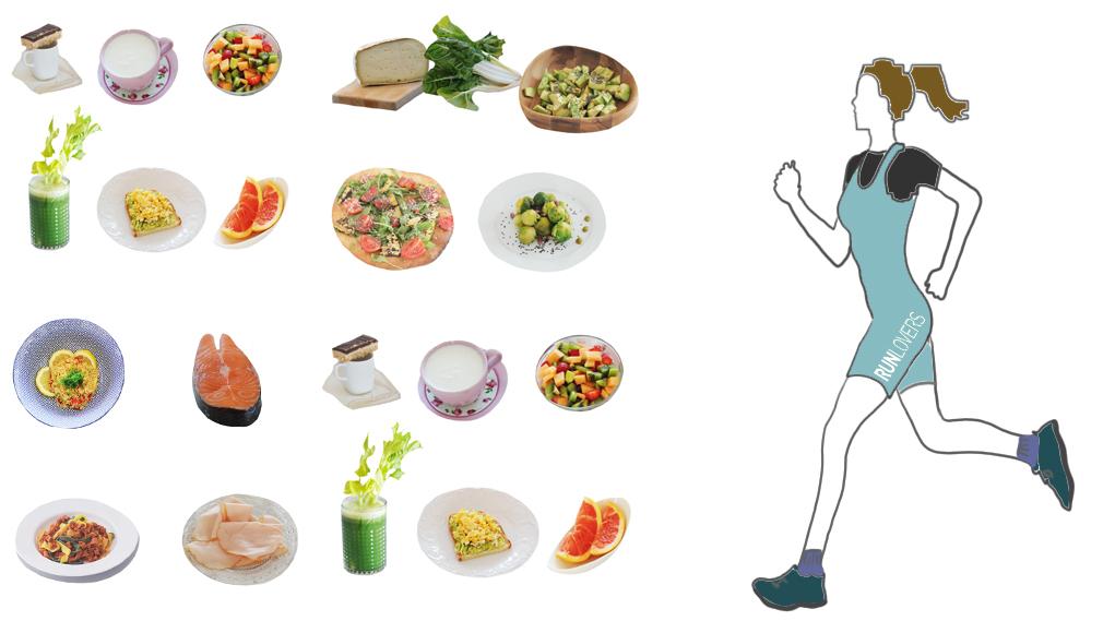 alimentazione per correre